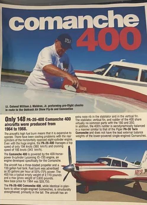 1964 PIPER COMANCHE 400 Photo 3